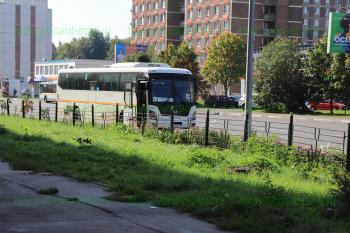 Автобус №12 на конечной остановке м/н Северный