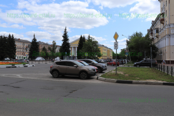 Перекресток улицы Советская и проспекта Ленина