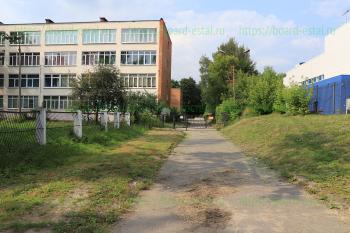 Въезд на территорию гимназии